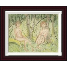 Two Women In The Forest by Otto Mueller Framed Painting Print