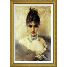 'An Elegant Beauty' by Vittorio Corcos Framed Painting Print