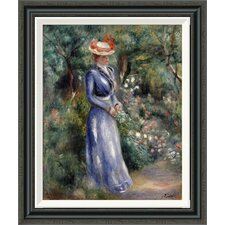 'Woman in a Blue Dress' by Pierre-Auguste Renoir Framed Painting Print