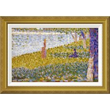 'Women On The River Bank' by Georges Seurat Framed Graphic Art