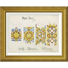 'Orvieto Cathedral, Mosaic Bands' by Charles Rennie Mackintosh Framed Wall Art