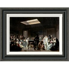 'A Game of Billiards' by Louis Leopold Boilly Framed Painting Print
