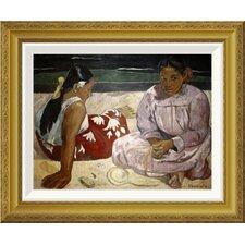 'Tahitian Women (On The Beach)' by Paul Gauguin Framed Painting Print