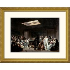 'A Game of Billiards' by Louis Leopold Boilly Framed Graphic Art