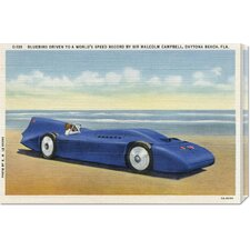 'BlueBird 5' by Retro Travel Vintage Advertisement on Wrapped Canvas