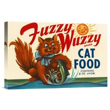 'Fuzzy Wuzzy Brand Cat Food' by Retrolabel Vintage Advertisement on Wrapped Canvas