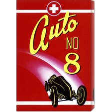'Auto No. 8' by Retro Travel Vintage Advertisement on Wrapped Canvas