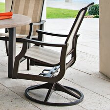"St. Catherine 39"" Swivel Rocking Dining Arm Chair"
