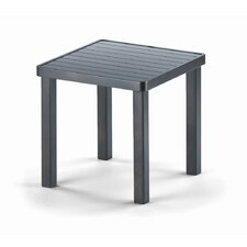 18'' Square Aluminum Slat End Table