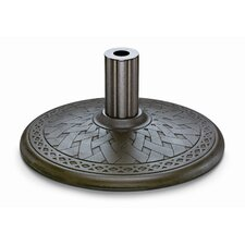Cast Aluminum Market Umbrella Base in Aged Bronze