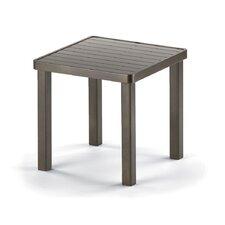 18'' Square Aluminum Slat End Table