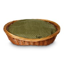 Luxury Wicker Shaker Mojito Dog Basket and Bed