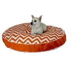 Pool and Patio Round Chevron Dog Pillow