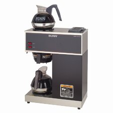 Pourover Commercial 12 Cup Coffee Brewer with Two Easy Pour Commercial Decanters