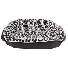 Diam Microvelvet Crescent Bolster Dog Bed