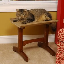 "19"" Single Seat Wooden Cat Perch"