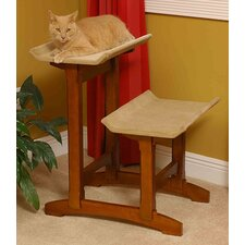 "29"" Double Seat Wooden Cat Perch"