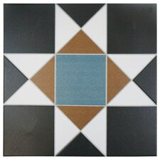 "Narcisso Nouveau 13"" x 13"" Porcelain Field Tile in Multi"