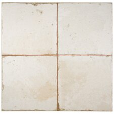 "Royalty 17.75"" x 17.75"" Ceramic Field Tile in White"