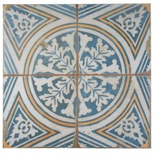 "Royalty 17.75"" x 17.75"" Ceramic Field Tile in Multi"