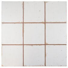 "Faventie Manises 13"" x 13"" Ceramic Field Tile in White"
