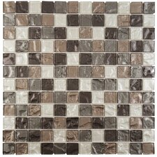 Stadius Glass Mosaic Tile in Celestial Gray