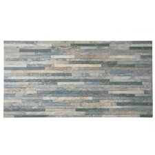 "Muro Arriba 12.5"" x 24.5"" Porcelain Field Tile in Grey"