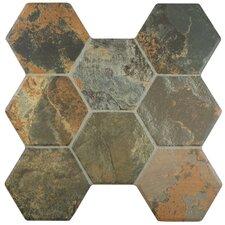 "Terrene 15.25"" x 16"" Ceramic Mosaic Tile in Grey"
