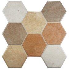 """Terrene 15.25"""" x 16"""" Ceramic Field Tile in Beige"""