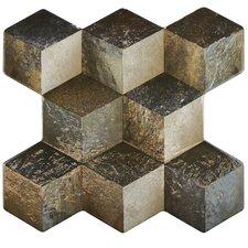"""Qubic 15.25"""" x 16"""" Ceramic Field Tile in Ceniza"""
