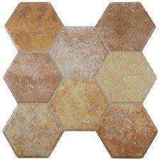 "Terrene 15.25"" x 16"" Ceramic Mosaic Tile in Beige"