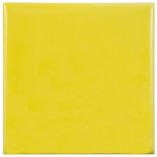 "Contour Square 3.75"" x 3.75"" Ceramic Field Tile in Yellow"