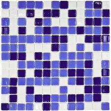"""Colgadilla Square 0.88"""" x 0.88"""" Glass Mosaic Tile in Agua Marina"""