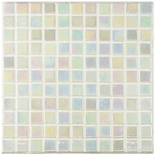 """Colgadilla Square 0.88"""" x 0.88"""" Glass Mosaic Tile in Mother of Pearl"""