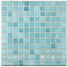 "Colgadilla Square 0.88"" x 0.88"" Glass Mosaic Tile in Niebla Azul"