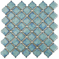 "Pharsalia 2"" x 2.25"" Porcelain Mosaic Tile in Marine"