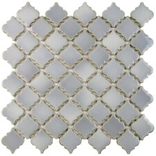 "Pharsalia 2"" x 2.25"" Porcelain Mosaic Tile in Grey Eye"