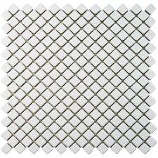 "Gem 0.75"" x 0.75"" Porcelain Mosaic Tile in Glossy White"