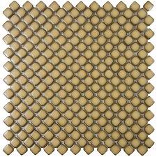 """Gem 0.75"""" x 0.75"""" Porcelain Mosaic Tile in Glossy Cafe"""