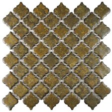 """Pharsalia 2"""" x 2.25"""" Porcelain Mosaic Tile in Brownstone"""