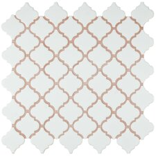 "Pharsalia 2"" x 2.25"" Porcelain Mosaic Tile in Matte White"
