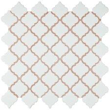 """Pharsalia 2"""" x 2.25"""" Porcelain Mosaic Tile in Matte White"""