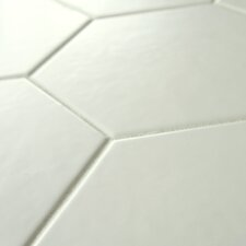 "Hexitile 7"" x 8"" Porcelain Field Tile in Matte White"