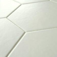 "Hexitile 7"" x 8"" Porcelain Field Tile in Matte White"