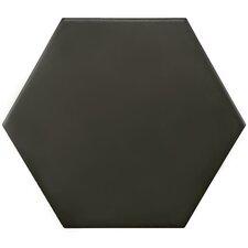 "Hexitile 7"" x 8"" Porcelain Field Tile in Matte Black"