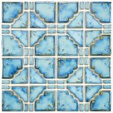 """Moonlight 11.75"""" x 11.75"""" Porcelain Mosaic Tile in Diva Blue"""