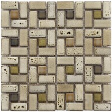 Essentia Random Sized Porcelain Mosaic Tile in Sierra