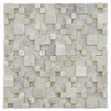 Grizelda Random Sized Natural Stone Mosaic Tile in Yellow Jade