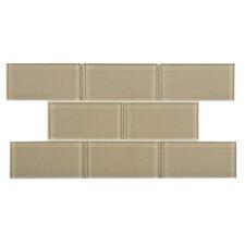 "Sierra 3"" x 6"" Glass Subway Tile in Sandstone"