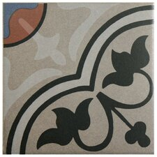 "Cementa 7"" x 7"" Ceramic Glazed Tile in And Centro (Set of 2)"